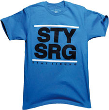 "STAYSTRONG ""DMC TEE Blue"""