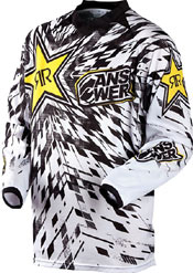 2012 ANSWER ROCKSTAR VENTED JERSEY WHITE