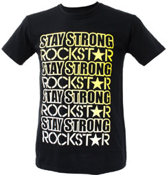 "STAY-STRONG X ROCKSTAR ""FADE"" Tee Black"