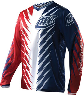 "2012 TLD GP Jersey ""SHOCKER Red/White/Blue"""
