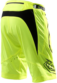 "2012 TLD ""ACE SHORT"" YELLOW back"