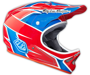 "2014 TLD D2 COMPOSITE  ""TURBO Red/White/Blue"""