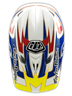 "2014 TLD D3 COMPOSITE ""SPEED"" White/Blue/Red"
