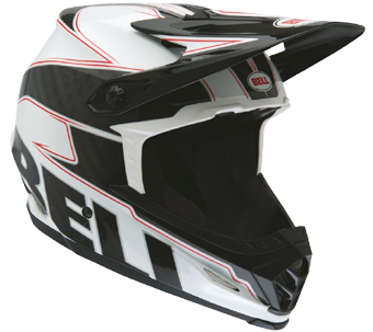 "2015 BELL FULL-9 CARBON ""WHITE / BLACK EMBLEM"""