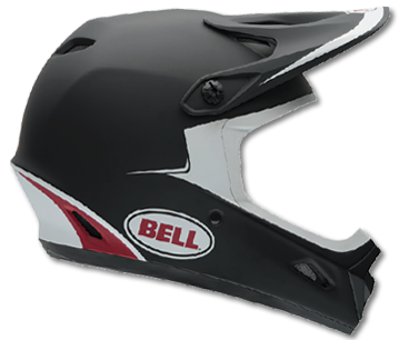 "2015 BELL TRANSFER-9 ""MATTE BLACK / RED GAMMA"""