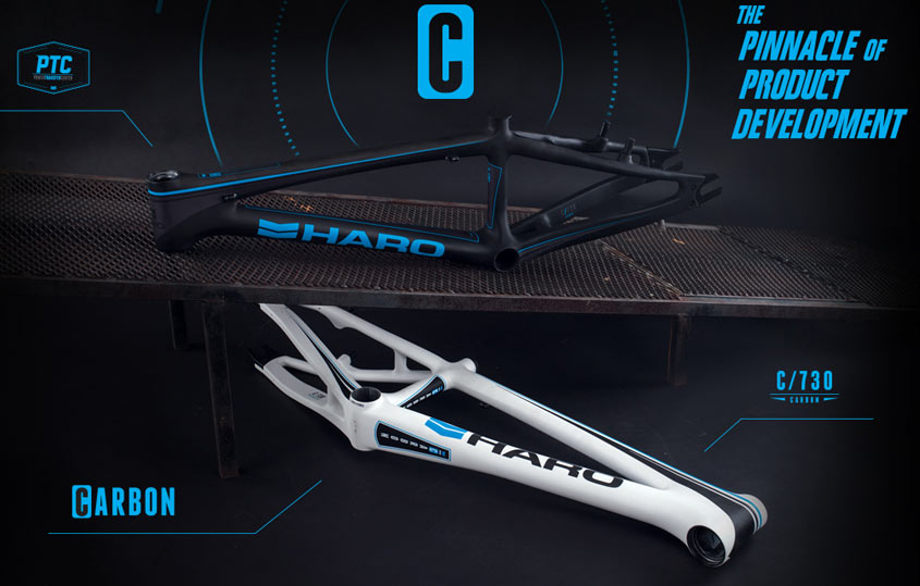 2015 HARO CARBON RACE Frames Black & White