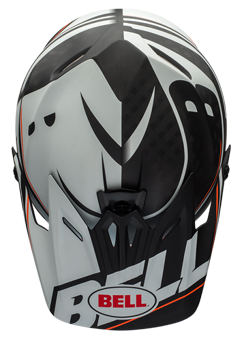 "2015 BELL FULL-9 CARBON ""WHITE / BLACK BLOCKED"" -TOP"