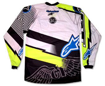 GT BMX 'NEON' TEAM JERSEY -Backside