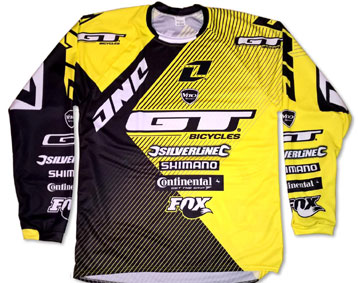 2016 GT MTB DH TEAM JERSEY YELLOW/BLACK