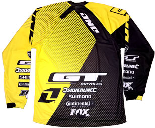 2016 GT MTB DH TEAM JERSEY -Backside