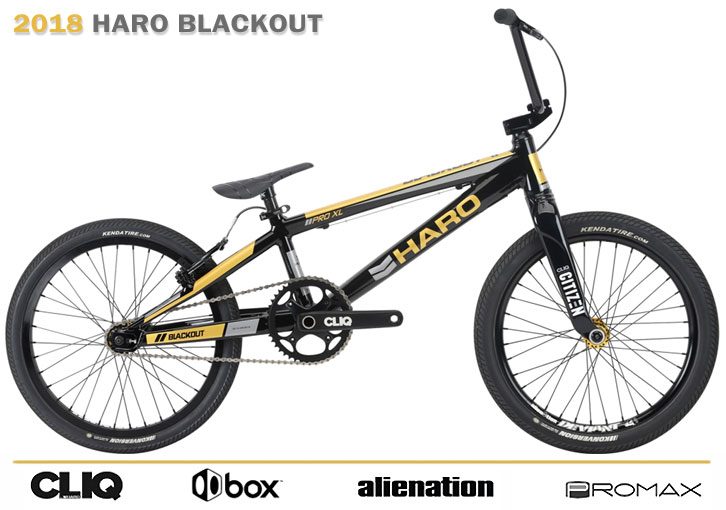 2018 HARO BMX RACE 'BLACKOUT' PRO XL